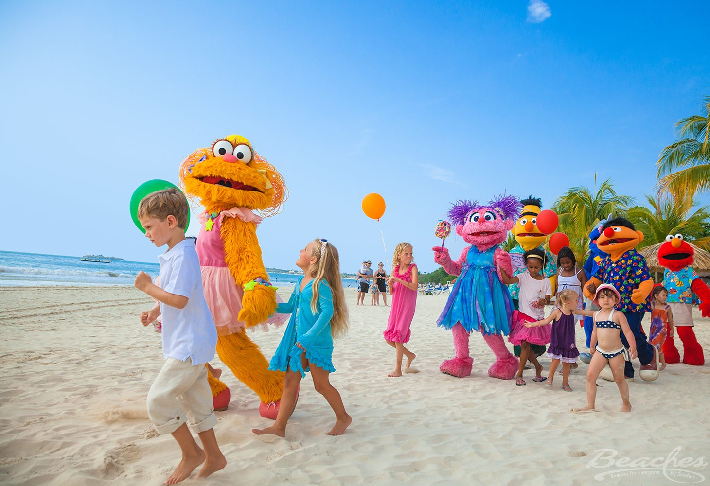 Sesame Street characters add to kid fun at Beaches Negril Resort & Spa