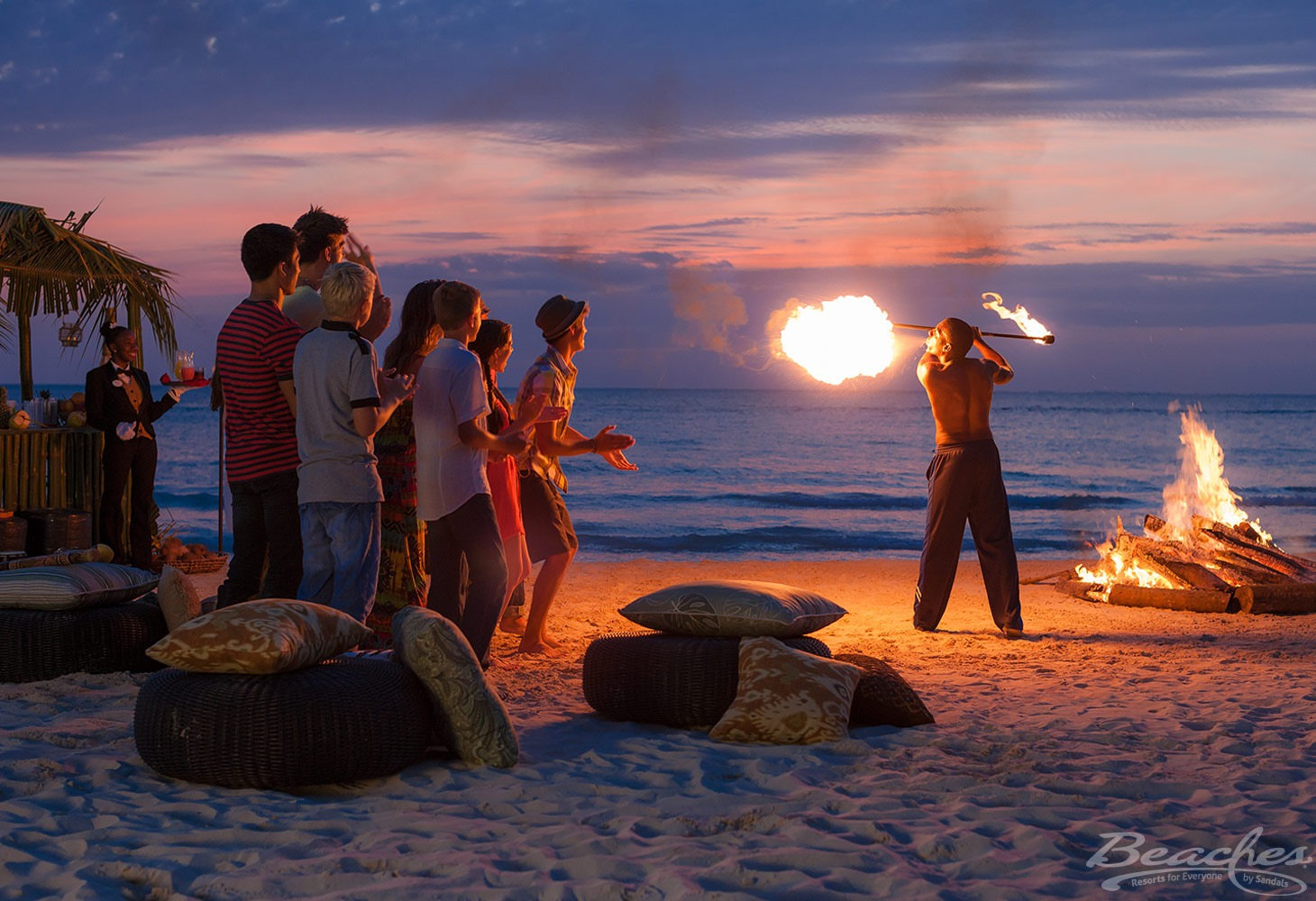 Entertainment for teens is includes at all Beaches resorts