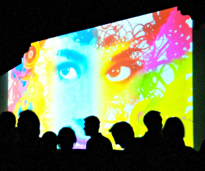 Digital Graffit art show in Alys beach on 30a