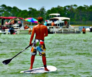 Crab Island during summer in Destin Florida