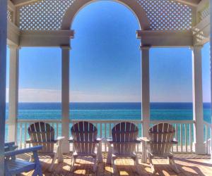 Beach pavillion on scenic 30a